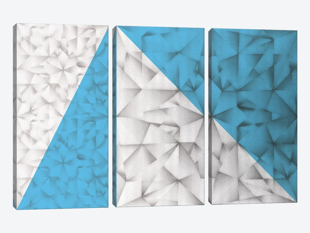 Triangles Squared by PI Studio 3-piece Canvas Wall Art