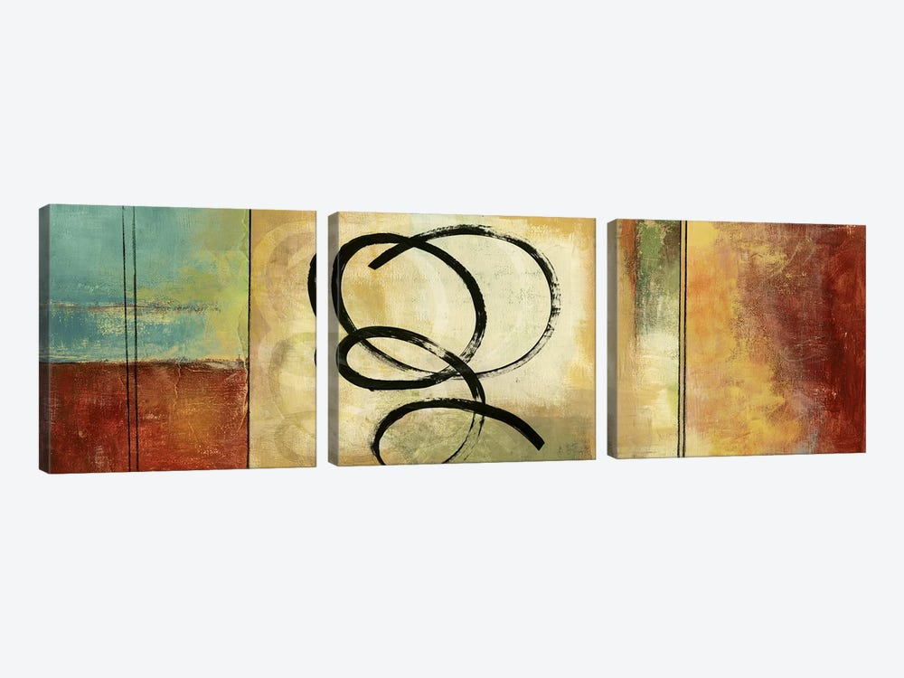 Twirlies I by PI Studio 3-piece Canvas Wall Art