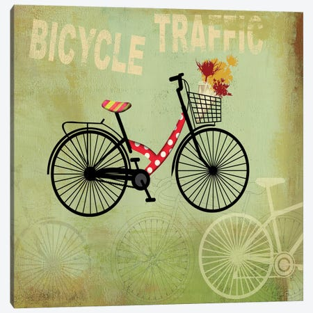 Bicycle Traffic Canvas Print #PST79} by PI Studio Canvas Art Print
