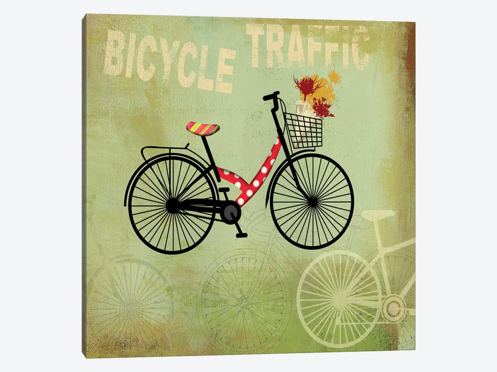 Bicycle Traffic by PI Studio 1-piece Canvas Wall Art