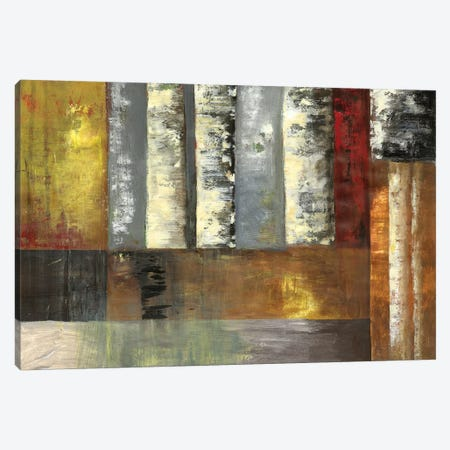 Abstracted Birches Canvas Print #PST7} by PI Studio Canvas Print