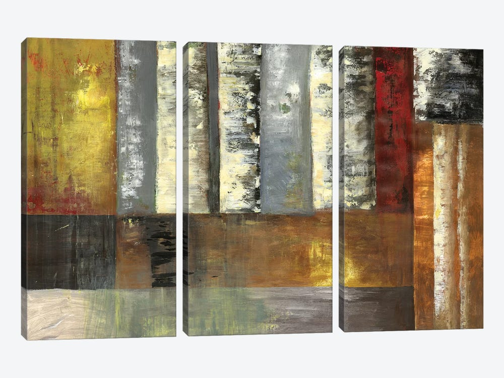 Abstracted Birches by PI Studio 3-piece Art Print