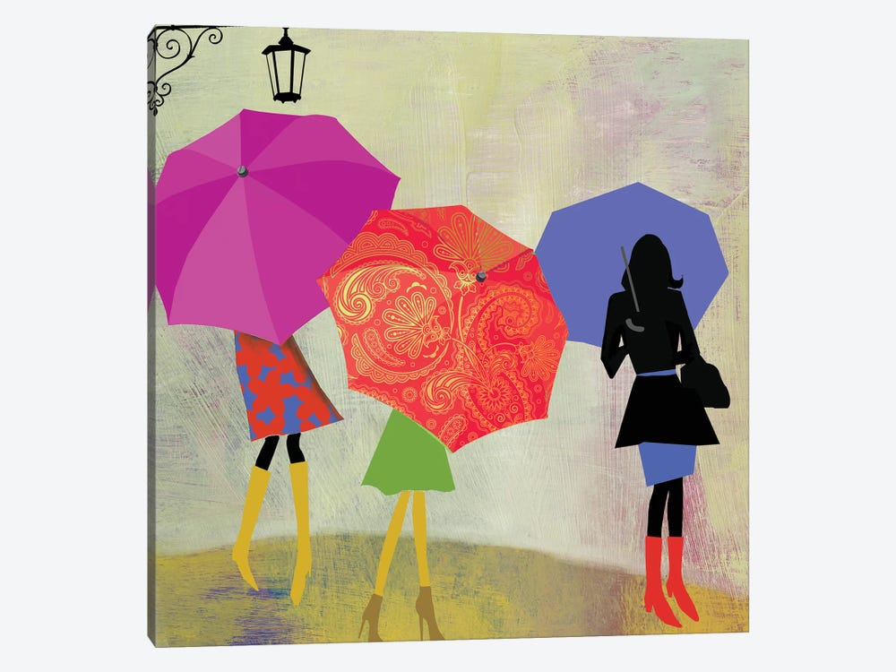 Umbrella Girls 1-piece Canvas Print