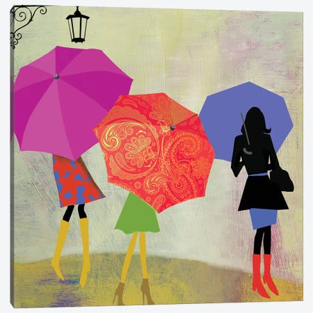 Umbrella Girls Canvas Print #PST800} by PI Studio Canvas Artwork