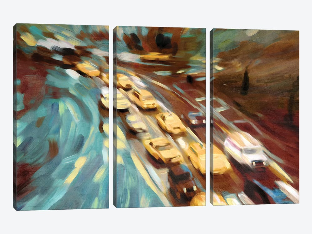 Velvet Highway by PI Studio 3-piece Canvas Print