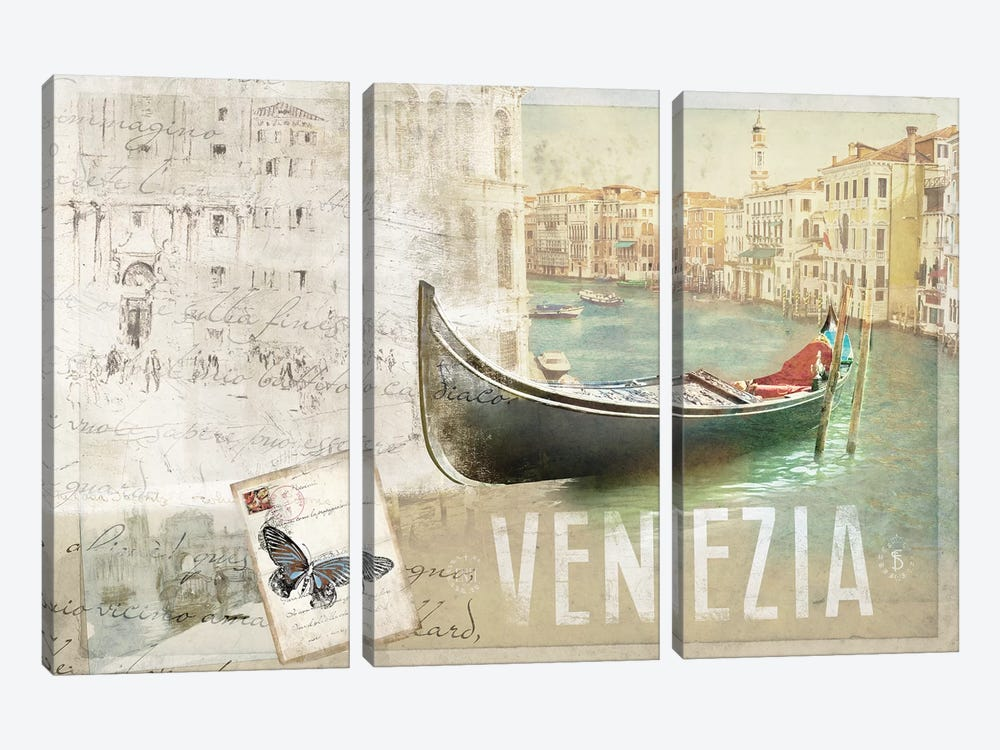 Venezia Butterfly by PI Studio 3-piece Canvas Artwork