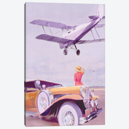 Vintage Airport Canvas Print #PST819} by PI Studio Art Print