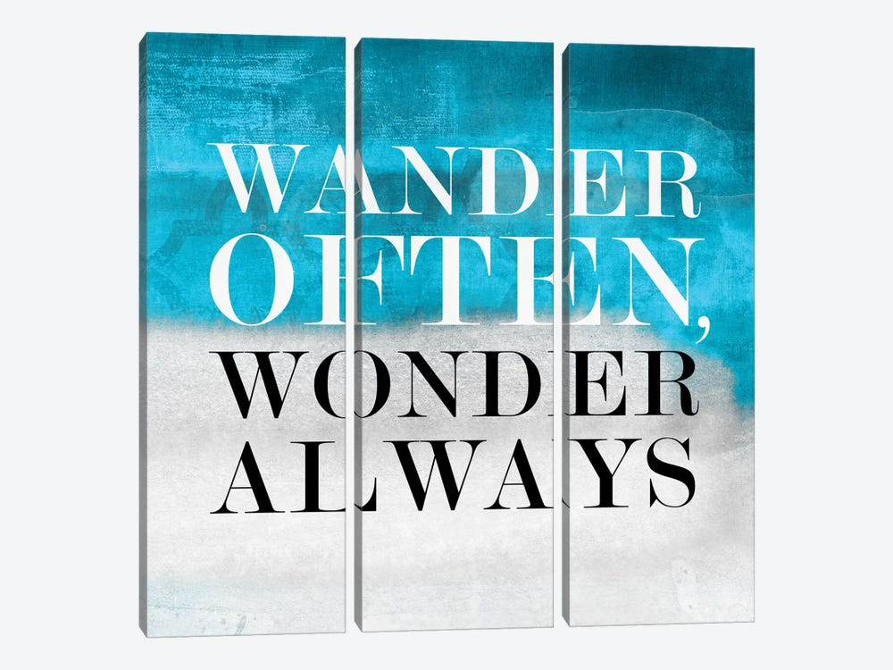 Wander Often, Wonder Always I by PI Studio 3-piece Canvas Print