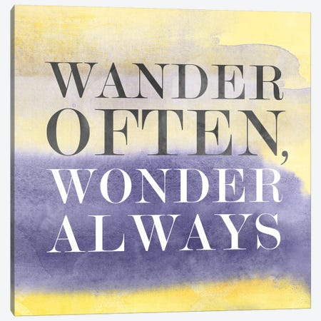 Wander Often, Wonder Always III Canvas Print #PST833} by PI Studio Canvas Print