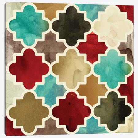 Watercolour Latticework Canvas Print #PST840} by PI Studio Canvas Artwork