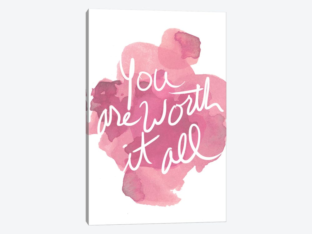 Watercoulours Pink Type I by PI Studio 1-piece Art Print