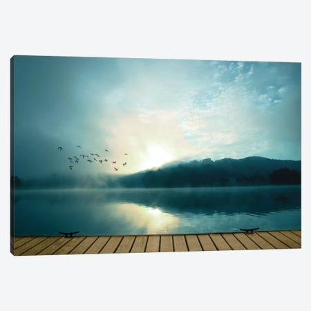 Waterside 3-Piece Canvas #PST847} by PI Studio Canvas Print