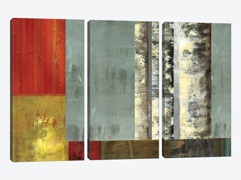 Birch Patchwork II by PI Studio 3-piece Canvas Artwork