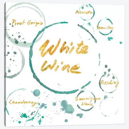 White Wine Gold Canvas Print #PST856} by PI Studio Canvas Art
