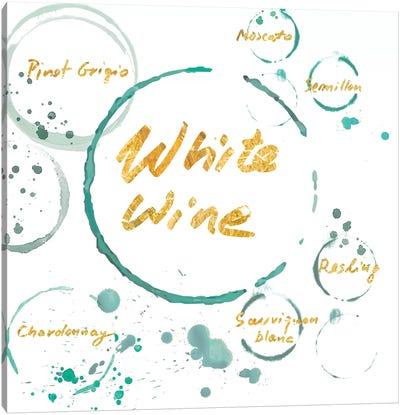 White Wine Gold Canvas Art Print