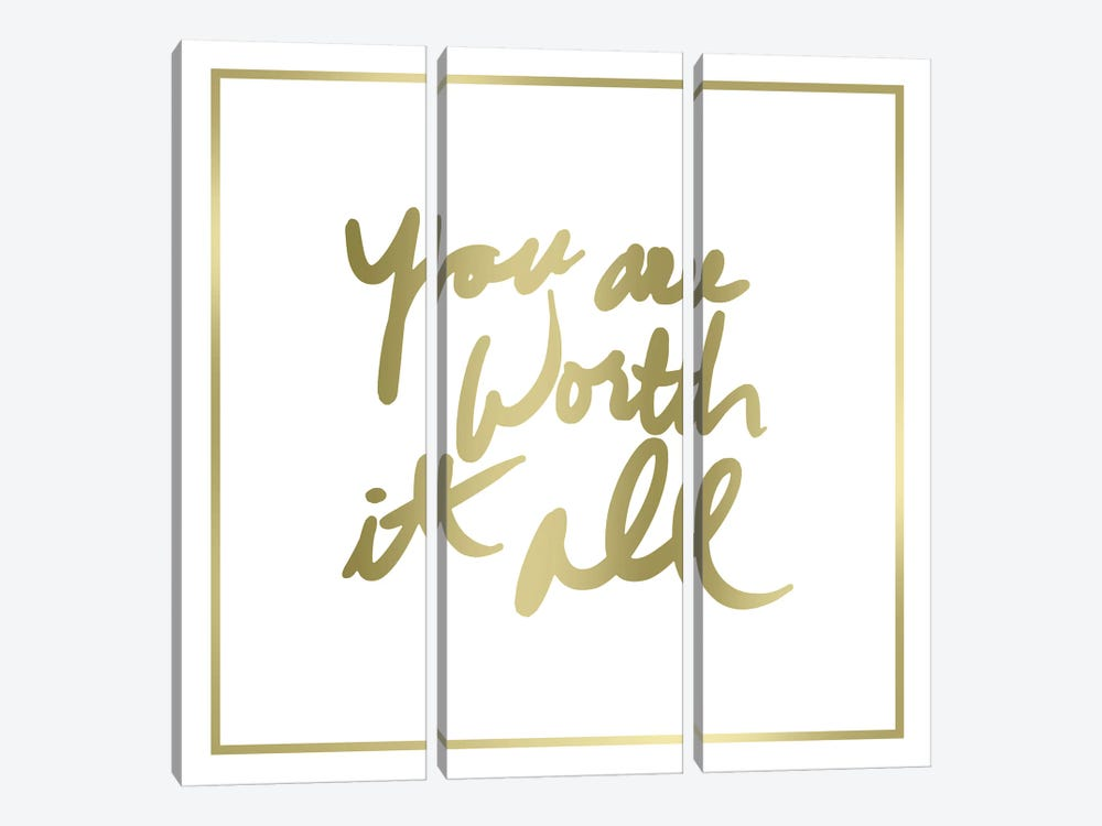 You Are Worth It All Border by PI Studio 3-piece Canvas Wall Art