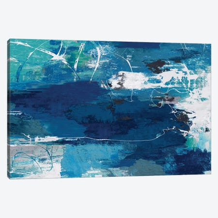 Blue Abstractions Canvas Print #PST883} by PI Studio Canvas Artwork