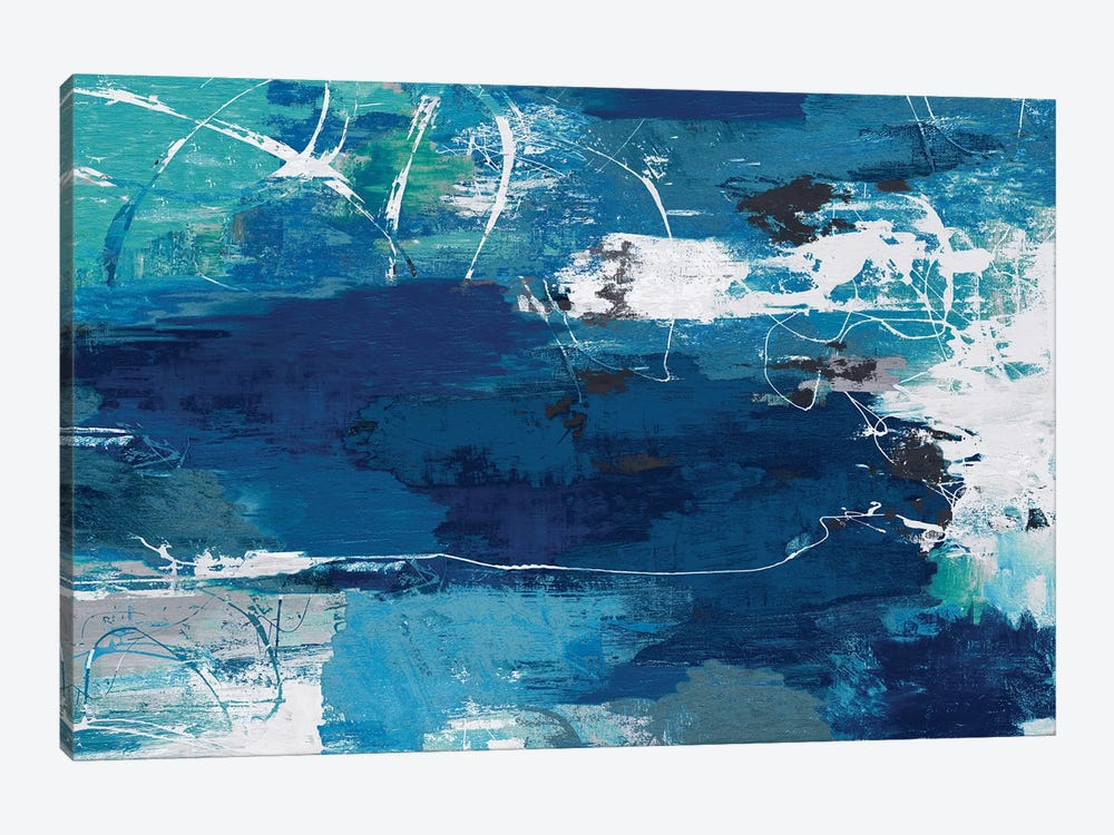 Blue Abstractions by PI Studio 1-piece Canvas Artwork