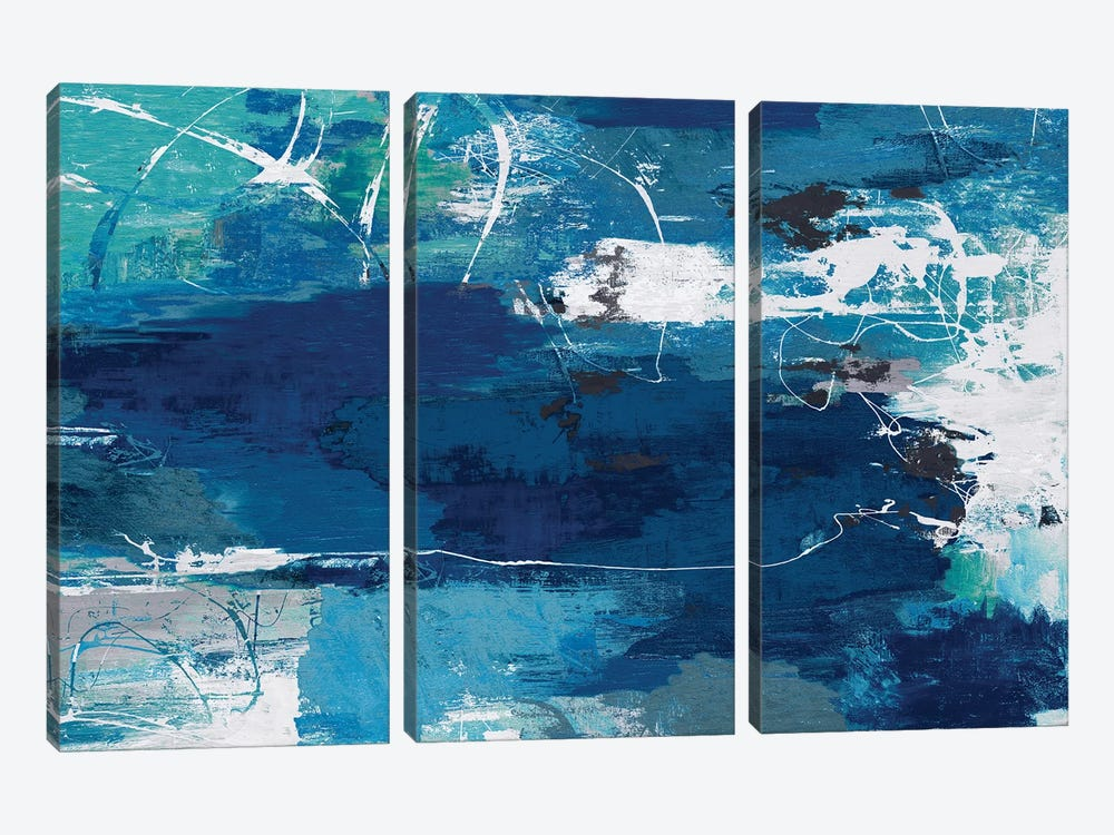 Blue Abstractions by PI Studio 3-piece Canvas Art