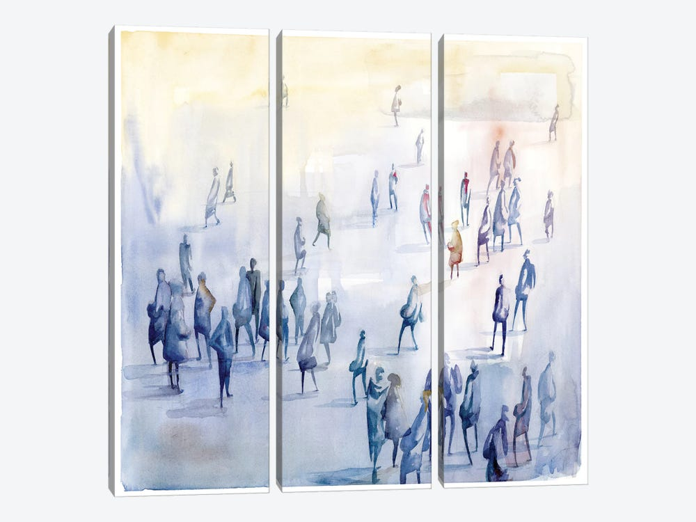 Commute III by PI Studio 3-piece Canvas Artwork