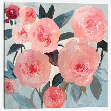 Coral Floral Canvas Print #PST890} by PI Studio Art Print