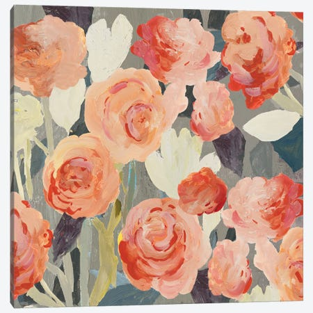 Peach Floral Canvas Print #PST915} by PI Studio Canvas Print