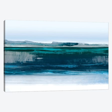 Smooth Blue 3-Piece Canvas #PST922} by PI Studio Canvas Print