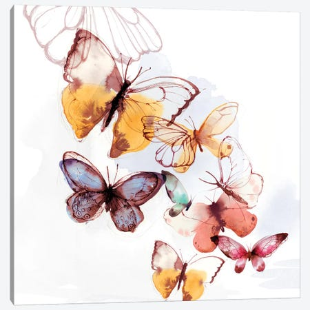 Butterfly Fly Away I  Canvas Print #PST929} by PI Studio Canvas Print