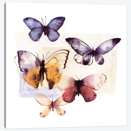 Butterfly Fly Away III  Canvas Print #PST930} by PI Studio Canvas Wall Art