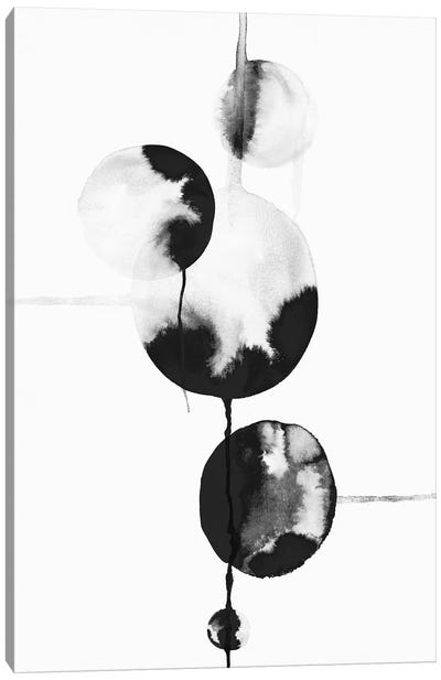 Dripping Bubbles II  Canvas Art Print