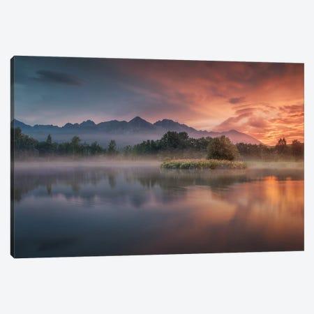 Daybreak By The Lake Canvas Print #PSV10} by Peter Svoboda Art Print