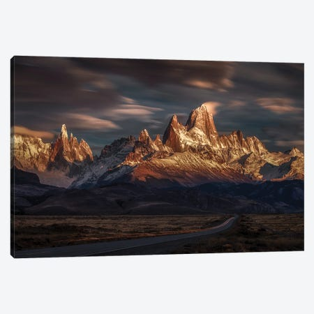 Patagonia Sky In Motion 3-Piece Canvas #PSV15} by Peter Svoboda Canvas Wall Art