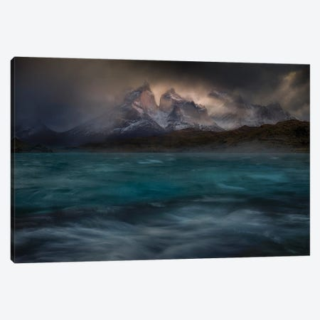 Stormy Winds Over The Torres Del Paine Canvas Print #PSV17} by Peter Svoboda Canvas Art