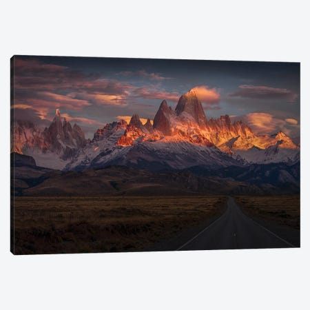 Burning Peak Canvas Print #PSV7} by Peter Svoboda Art Print