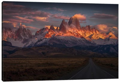 Burning Peak Canvas Art Print