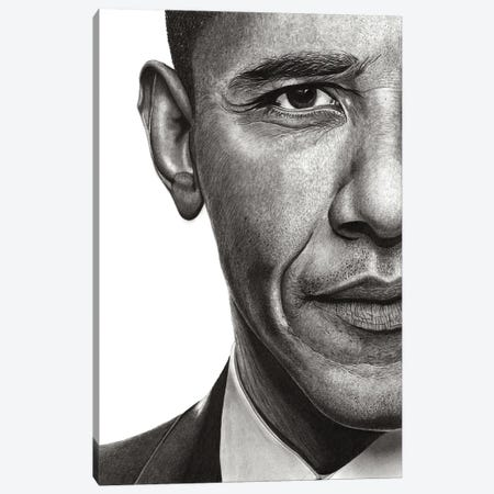 Obama Canvas Print #PSW11} by Paul Stowe Canvas Wall Art