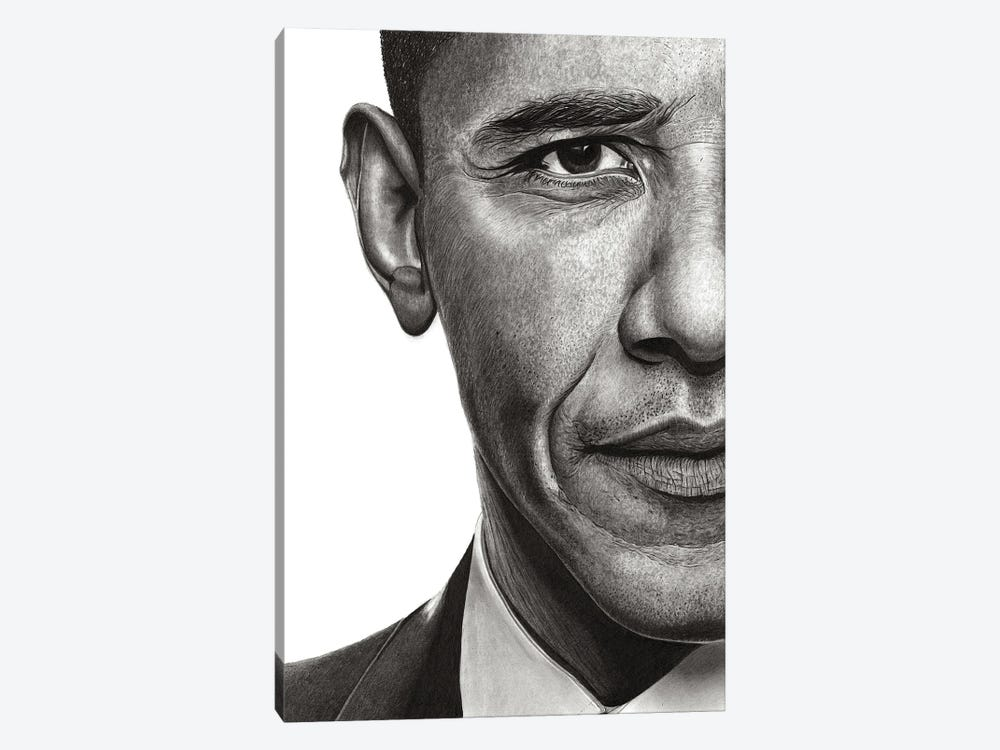 Obama by Paul Stowe 1-piece Canvas Wall Art