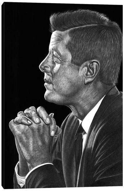 JFK Canvas Art Print