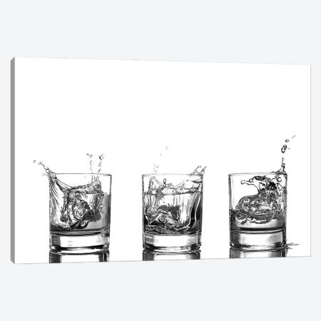 Triple Whisky Splash Canvas Print #PSW15} by Paul Stowe Canvas Print