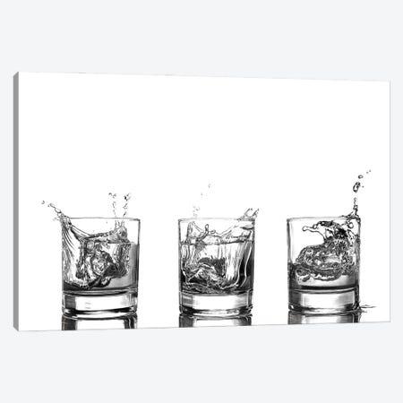 Triple Whisky Splash Canvas Print #PSW15} by Paul Stowe Canvas Print