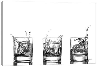 Triple Whisky Splash Canvas Art Print