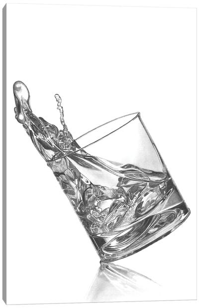 Bourbon Splash Canvas Art Print