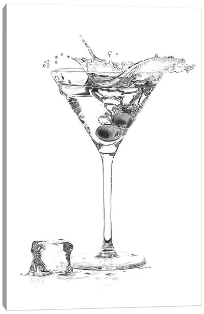 Martini Splash Canvas Art Print