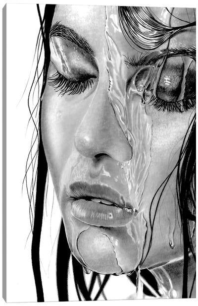 Wet XVIII Canvas Art Print
