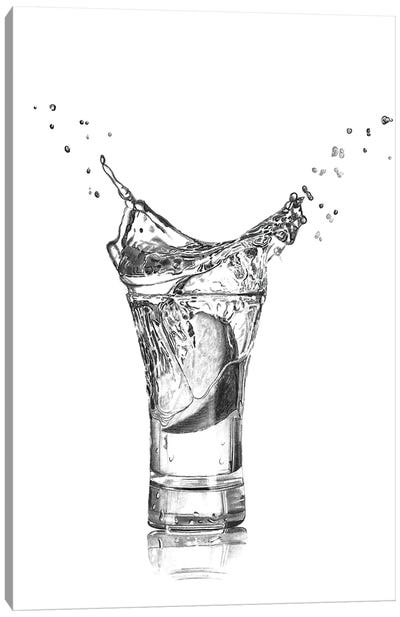 Tequila Splash Canvas Art Print