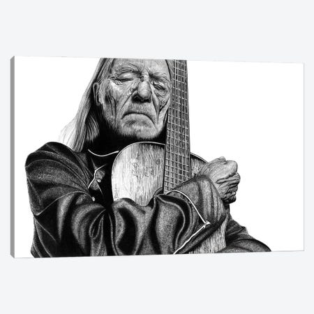 Willie Nelson Canvas Print #PSW49} by Paul Stowe Canvas Art Print