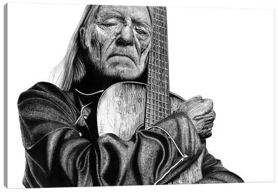 Willie Nelson Canvas Art Print