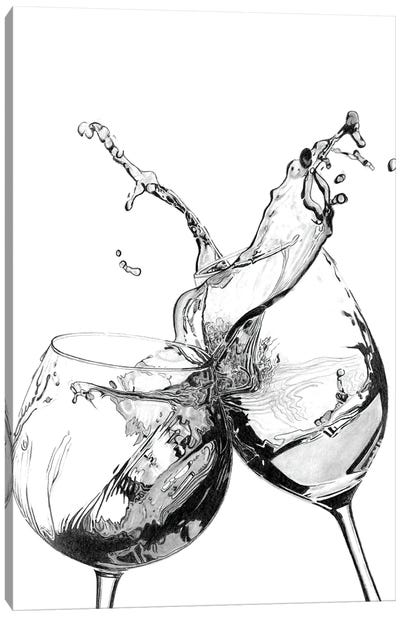 Wine Splash Canvas Art Print