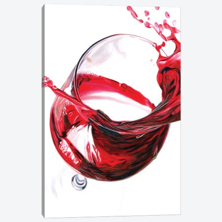 Red Wine Splash Canvas Print #PSW74} by Paul Stowe Canvas Art Print