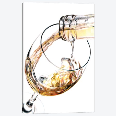 White Wine Pour Canvas Print #PSW75} by Paul Stowe Canvas Art Print